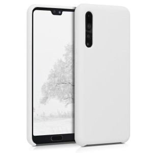 KW Θήκη Σιλικόνης Huawei P20 Pro - Soft Flexible Rubber Protective Cover - White