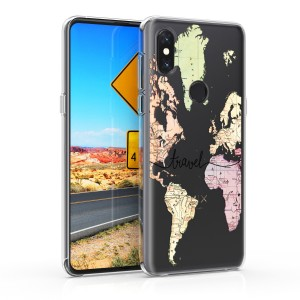 KW Θήκη Σιλικόνης Xiaomi Mi Mix 3 - Black / Multicolor / Transparent