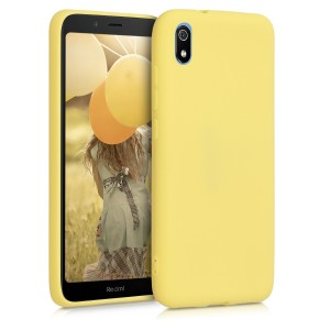 KW Θήκη Σιλικόνης Xiaomi Redmi 7A - Soft Flexible Shock Absorbent - Yellow Matte