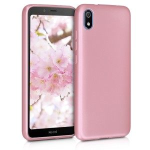 KW Θήκη Σιλικόνης Xiaomi Redmi 7a - Metallic Rose Gold