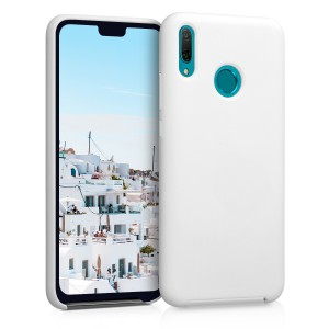 KW Θήκη Σιλικόνης Huawei Y9 2019 - Soft Flexible Rubber - White
