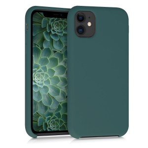 KW Θήκη Σιλικόνης iPhone 11 - Soft Flexible Rubber Protective Cover - Blue Green