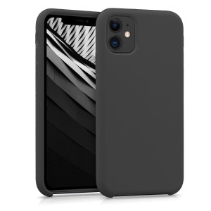 KW Θήκη Σιλικόνης Apple iPhone 11 - Soft Flexible Rubber Protective Cover - Black