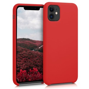 KW Θήκη Σιλικόνης Apple iPhone 11 - Soft Flexible Rubber Protective Cover - Red