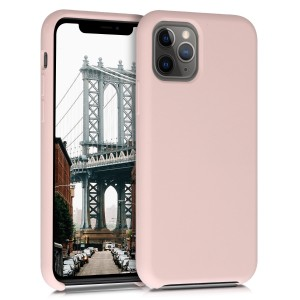 KW Θήκη Σιλικόνης Apple iPhone 11 Pro Max - Soft Flexible Rubber Protective Cover - Dusty Pink
