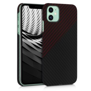 Kalibri Aramid Fiber Body - Σκληρή Θήκη Apple iPhone 11 - Red Matte / Black Matte