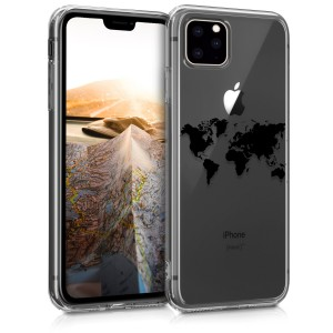 KW Θήκη Σιλικόνης iPhone 11 Pro - Black / Transparent