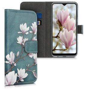 KW Θήκη - Πορτοφόλι Samsung Galaxy A10 - Leather Protective Flip Cover - Taupe / White / Blue Grey