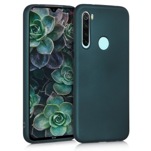 KW Θήκη Σιλικόνης Xiaomi Redmi Note 8 - Metallic Teal