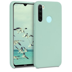 KW Θήκη Σιλικόνης Xiaomi Redmi Note 8 - Soft Flexible Rubber - Mint Matte