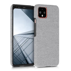KW Σκληρή Θήκη Canvas Google Pixel 4 - Light Grey