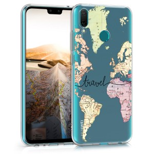 KW Θήκη Σιλικόνης Huawei Y9 2019 - Black / Multicolor / Transparent (50360.02)