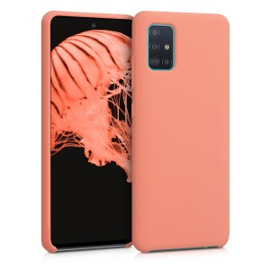 KW Θήκη Σιλικόνης Samsung Galaxy A51 - Soft Flexible Rubber Protective Cover - Coral Matte