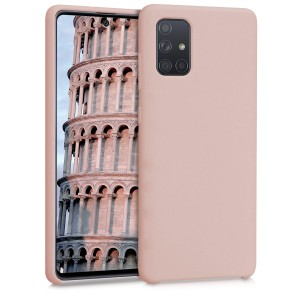 KW Θήκη Σιλικόνης Samsung Galaxy A71 - Soft Flexible Rubber Protective Cover - Antique Pink Matte