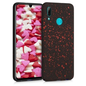 KW Σκληρή Θήκη Huawei P Smart 2019 - Paint Splatter - Red / Black