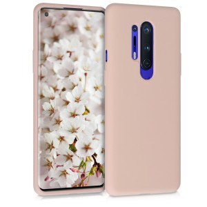 KW Θήκη Σιλικόνης OnePlus 8 Pro - Soft Flexible Rubber Protective Cover - Dusty Pink
