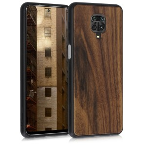 KW Σκληρή Ξύλινη Xiaomi Redmi Note 9S / 9 Pro / 9 Pro Max - Dark Brown