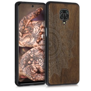 KW Σκληρή Ξύλινη Xiaomi Redmi Note 9S / 9 Pro / 9 Pro Max - Rising Sun Dark Brown