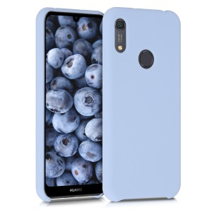 KW Θήκη Σιλικόνης Huawei Y6s 2019 - Soft Flexible Rubber Protective Cover - Light Blue Matte