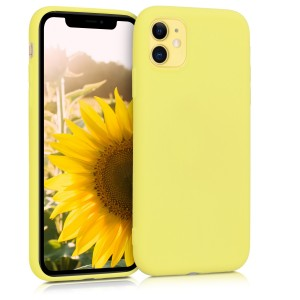 KW Θήκη Σιλικόνης Apple iPhone 11 - Pastel Yellow Matt