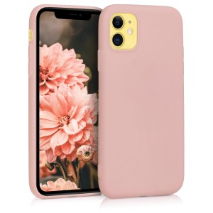 KW Θήκη Σιλικόνης Apple iPhone 11 - Rose Gold Matte