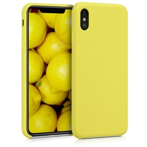 KW Θήκη Σιλικόνης Apple iPhone XS Max - Soft Flexible Rubber Protective Cover - Pastel Yellow
