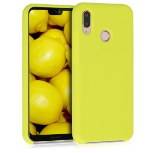 KW Θήκη Σιλικόνης Huawei P20 Lite - Soft Flexible Rubber Protective Cover - Neon Yellow