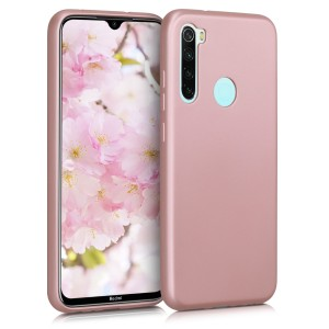 KW Θήκη Σιλικόνης Xiaomi Redmi Note 8 - Metallic Rose Gold
