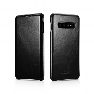 iCarer Vintage Series Side-Open Δερμάτινη Θήκη Samsung Galaxy S10 Plus - Black