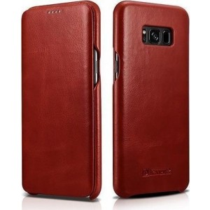 iCarer Vintage Series Curved Edge - Δερμάτινη Θήκη Samsung Galaxy S8 Plus - Red