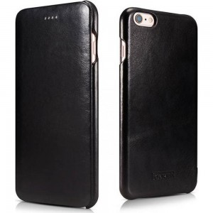 iCarer Vintage Series Curved Edge Side-Open - Δερμάτινη Θήκη iPhone 6S / 6 - Black