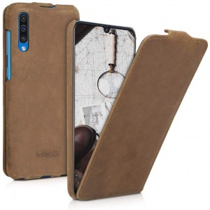Kalibri Δερμάτινη Θήκη Flip Samsung Galaxy A50 - Ultra Slim Leather Protective Phone Cover - Brown