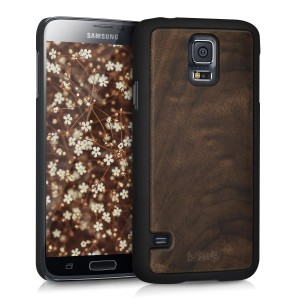 Kalibri Wood Θήκη Samsung Galaxy S5 / S5 Neo - Dark Brown