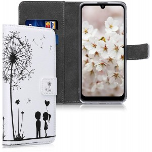 KWmobile Θήκη Πορτοφόλι Samsung Galaxy A21s - Dandelion Love / Black / White