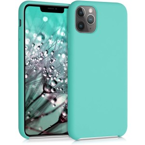KWmobile Θήκη Σιλικόνης Apple iPhone 11 Pro Max - Soft Flexible Rubber Cover - Turquoise