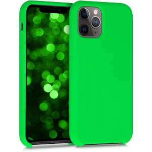KWmobile Θήκη Σιλικόνης Apple iPhone 11 Pro - Soft Flexible Rubber Cover - Neon Green
