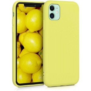 KWmobile Θήκη Σιλικόνης Apple iPhone 11 - Soft Flexible Rubber Cover - Pastel Yellow Matte