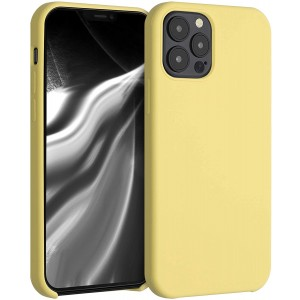 KWmobile Θήκη Σιλικόνης Apple iPhone 12 / 12 Pro - Soft Flexible Rubber Cover - Yellow Matte