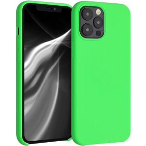 Wmobile Θήκη Σιλικόνης Apple iPhone 12 Pro Max - Soft Flexible Rubber Cover - Lime Green