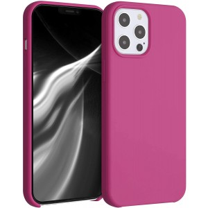 KWmobile Θήκη Σιλικόνης Apple iPhone 12 Pro Max - Soft Flexible Rubber Cover - Pomegranate Red