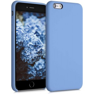 KWmobile Θήκη Σιλικόνης Apple iPhone 6S Plus / 6 Plus - Soft Flexible Rubber Cover - Azure Blue