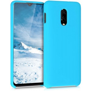 KWmobile Θήκη Σιλικόνης OnePlus 6T - Soft Flexible Rubber Cover - Ice Blue
