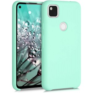 KWmobile Θήκη Σιλικόνης Google Pixel 4a - Soft Flexible Rubber Cover - Pastel Green