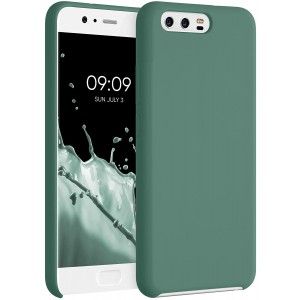 KWmobile Θήκη Σιλικόνης Huawei P10  - Soft Flexible Rubber Cover - Forest Green