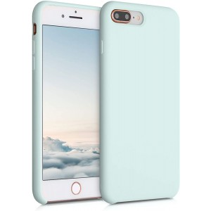 KWmobile Θήκη Σιλικόνης Apple iPhone 8 Plus / 7 Plus - Soft Flexible Rubber Cover - Frosty Mint