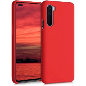 KWmobile Θήκη Σιλικόνης OnePlus Nord - Soft Flexible Rubber Cover - Red