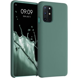KWmobile Θήκη Σιλικόνης OnePlus 8T - Soft Flexible Rubber Cover - Forest Green