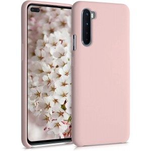 KWmobile Θήκη Σιλικόνης OnePlus Nord - Soft Flexible Rubber Cover - Dusty Pink