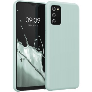 KWmobile Θήκη Σιλικόνης Samsung Galaxy A02s - Soft Flexible Rubber Cover - Frosty Mint