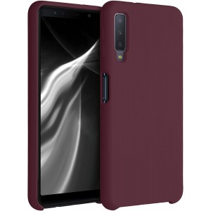 KWmobile Θήκη Σιλικόνης Samsung Galaxy A7 2018 - Soft Flexible Rubber Cover - Tawny Red